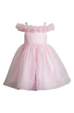 Kleinfeld Pink 'Emily' Organza Dress (Toddler Girls & Little Girls)…