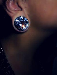 Diamond plugs - too big for my liking, but still super pretty :)