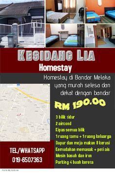 Kesidang Lia Homestay Di Bandar Melaka Yang Murah Selesa Dekat Dengan