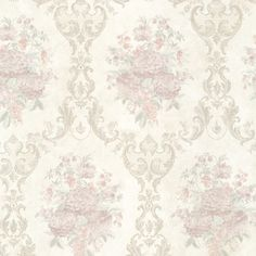 Gorgeous blush wallcovering by Brewster. Item 991-68233. Save big on Brewster. Free shipping! Search thousands of luxury wallpapers. Sold by the roll. Width 20.5 inches.