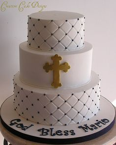 butter cream' baptism cake - Google Search