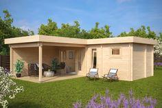 Gartenhaus mit Sauna A 22m2 / 70mm / 3x7