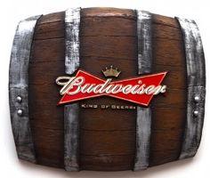 Barril Horizontal Budweiser. Presente R$99,90