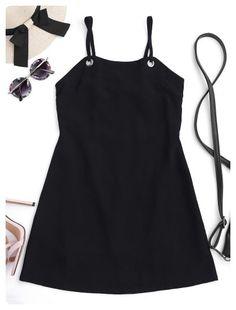 4a946c5c862 Cut Out Back Tied Mini Dress (Black) Women s Summer Fashion
