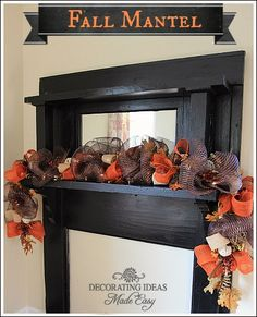 Fall Mantel Decorating Idea - Two different variations!