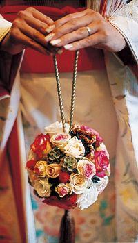 Japanese style wedding bouquet