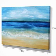 Ocean Paintings On Canvas, Seascape Paintings, Abstract Canvas, Painting Canvas, Canvas Prints, Beach Paintings, Sailboat Painting, Beach Room, Beach Art