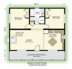 Great cottage floor plan by proteamundi