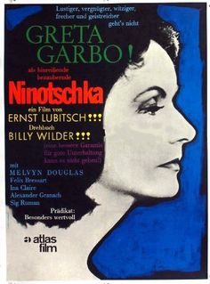 Greta Garbo & Melvyn Douglas in 'Ninotchka', 1939 - Ernst Lubitsch Directed this Satirical, Russian Romantic Comedy with the Divine Greta Garbo, mostly noted for her dramatic roles - But here 'Garbo Laughs' - Part of TCMs 31 Days of Oscar.