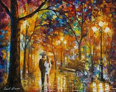Romance Wall Art Rain Oil Painting On Canvas By Leonid Afremov - Flying Away