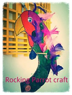 Rocking Parrots using recycled card