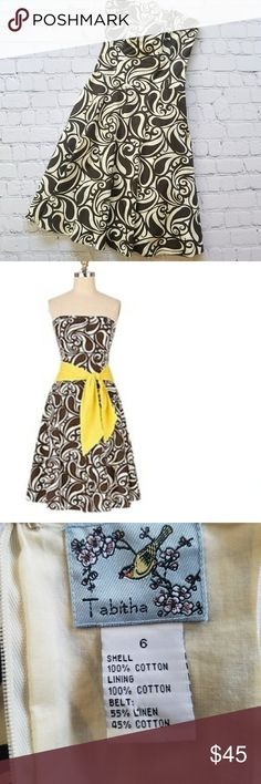 Anthro Tabitha Brown Swirl Party Dress Sz 6