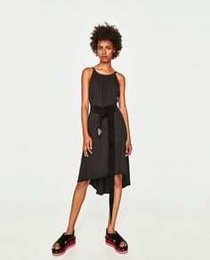ZARA - WOMAN - FLOWING DRESS WITH THIN STRAPS