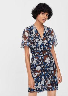 Sukienka kopertowa ze wzorem - Sukienki dla Kobieta | MANGO Polska