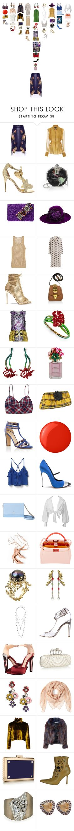 """""""Untitled #1677"""" by punchingwalls ❤ liked on Polyvore featuring Alexander McQueen, Marissa Webb, KOTUR, Judith Leiber, GEDEBE, Philip Treacy, MICHAEL Michael Kors, MSGM, Gianvito Rossi and Moschino"""