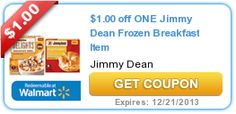 Nice new $1/1 Jimmy Dean Frozen Breakfast Item printable coupon! - http://printgreatcoupons.com/2013/11/12/nice-new-11-jimmy-dean-frozen-breakfast-item-printable-coupon/