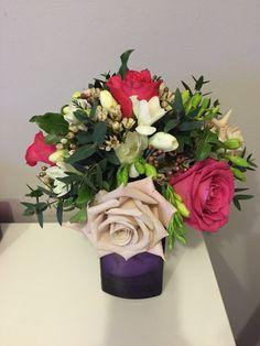 Wired bridesmaid bouquet