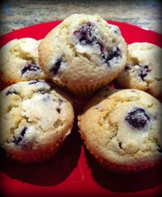 (Very) Easy Gluten Free Blueberry Muffins