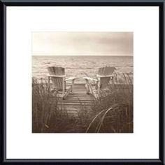 @Overstock - Artist: Christine Triebert Title: Beach Chairs Product type: Framed art print http://www.overstock.com/Home-Garden/Christine-Triebert-Beach-Chairs-Metal-Framed-Art-Print/4120955/product.html?CID=214117 $77.99