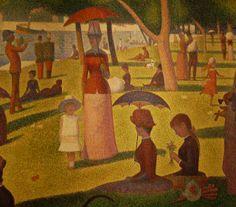 Georges Seurat (French, 1859-1891) A Sunday on La Grande Jatte -- 1884, 1884-86 (detail)