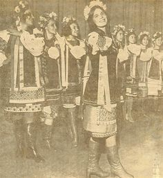 "Ukrainian dancers at ""Christmas Around the World"" in Seattle in 1974."