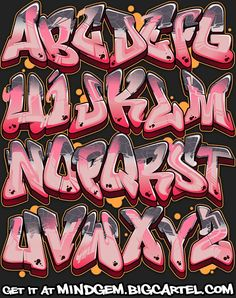 Image of Graffiti Font - Lady Lemonade - Graffiti - Art Graffiti Lettering Alphabet, Graffiti Alphabet Styles, Graffiti Words, Graffiti Doodles, Graffiti Wall Art, Tattoo Lettering Fonts, Graffiti Designs, Graffiti Characters, Graffiti Drawing