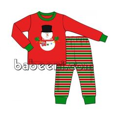 85561532c snowman applique knit set for little boy on christmas with snowman applique  pattern in the middle of the long sleeve top, round neck, long pants,  wholesale