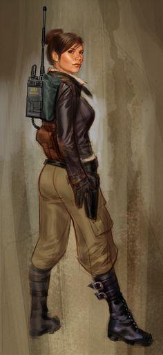 """Parker"" concept art for the game Resistance Retribution (psp only)"