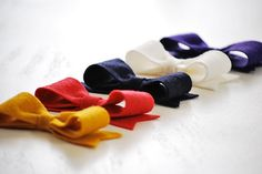 Easy felt bows with template