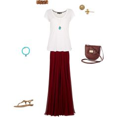 Oh this is sooooo cute!  Summer attire for me.  Close to what I normally wear, not much of a change! :)