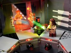 A look at the Lego Star Wars minifigures from Lego Star Wars, Star Wars Minifigures, Images Star Wars, Star Wars Pictures, Star Wars Dark, Amazing Spider Man Comic, Lego Memes, Lego Display, Amazing Lego Creations