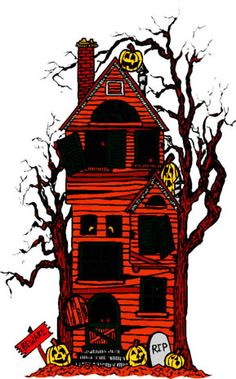 haunted house clip art | ANOTHER ANIMATED HAUNTED HOUSE WITH ...