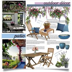 Mediterranean Patio by nyrvelli on Polyvore featuring interior, interiors, interior design, home, home decor, interior decorating, Padma's Plantation, Skagerak, Emissary and Sunbrella