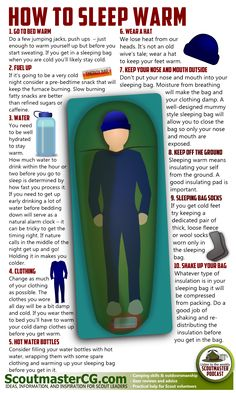 How to sleep warm...