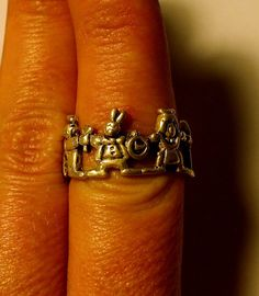 Antique Sterling Silver Alice in Wonderland Ring by onetime, $20.25