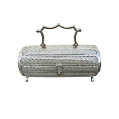 Extremely Rare Minaudier, Judith Leiber, USA: 1968, Florentined Minaudier made of metal and embellished with crystals.