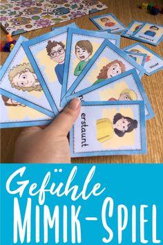 Ein lustiges Kartenspiel für die Grundschule zum Thema Gefühle. Toll für DaF und DaZ mit Kindern. Wortschatz lernen, erweitern und festigen. Die Kinder lernen die Vokabeln zu Gefühlen spielerisch.  #learngermanwithfun #lehrermarktplatz #gefuehle #emotionen #deutsch #fachübergreifend #daz #daf #mimikspiel #spielen #grundschule #sachkunde #philosophie #kreativeslernen #schueler #schule Language Study, Learn A New Language, German Resources, Baseball Cards, Learning, Games, Homeschooling, Philosophy, Teaching Materials