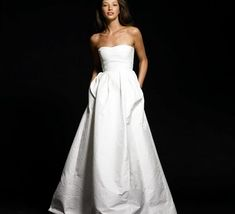 strapless wedding dress with pockets. #ilovepockets #weddingdress
