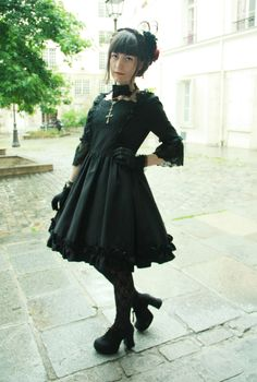 siriusc:      Wearing Moitié to attend the French Lolita Ambassador's election ! Mila was one of the three winners, I am so proud of her. See pictures of the event here !  (via octavekitten)