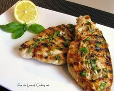 Lemon and Basil Chicken - I love this simple marinade. So much flavor.