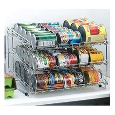 Canned goods storage rack