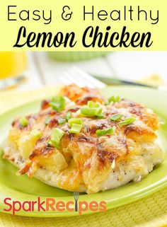 "Easy Lemon Chicken Recipe! One pinner said: ""Tastes just like Chicken Limone from our favorite Italian restaurant. Hubby, our son and I all love it. We sprinkle capers on top. Very easy to make."" 