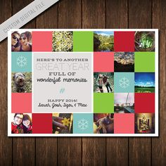 Instagram Photo Collage Christmas Card - Multi-Photo Holiday Card ...