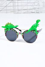 Spangled Disco Dino Sunglasses in Neon at Urban Outfitters