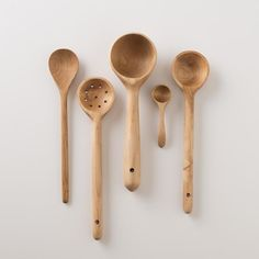 Made from maple, our Peasant Wood Utensils lend rustic warmth to the kitchen. The handles are smooth to the touch, and include holes for hanging when not in use