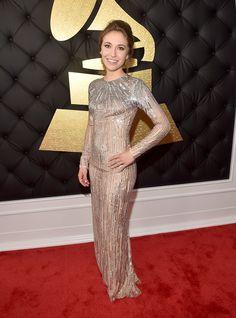 Lauren Daigle from Grammys 2017 Red Carpet Arrivals Lauren Daigle, Celebrity Red Carpet, Celebrity Style, Celebrity Gossip, Celebrity Photos, Celebrity News, Taya Smith, Grammys 2017, Nude Gown