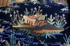 【楽天市場】究極の日本刺繍 『東塔幕庭園風景文様』京繍作家 合田峰太郎作日本刺繍黒留袖10P05Sep15:季節の和雑貨 京都 和匠ポラーコ
