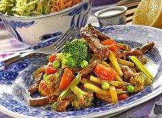 Hovězí nudličky se zeleninou Beef, Food, Meat, Essen, Meals, Yemek, Eten, Steak