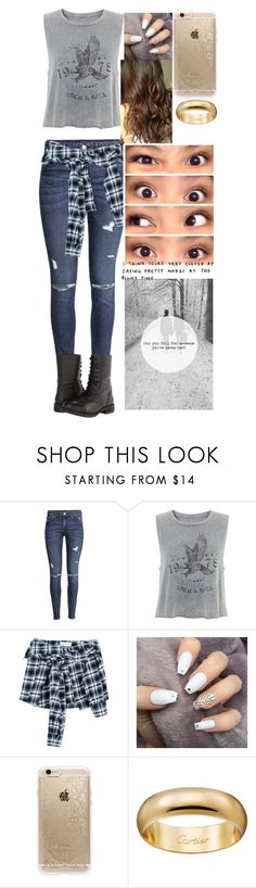 """Untitled #644"" by trustsalvatore ❤ liked on Polyvore featuring H&M, Faith Connexion, Rifle Paper Co and Steve Madden"