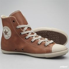 6e210a5ad5f1d4 Shoes - All Star Light Leather Hi - Brown